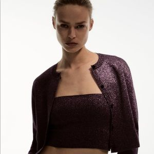 NWT Zara round neck purple jacket